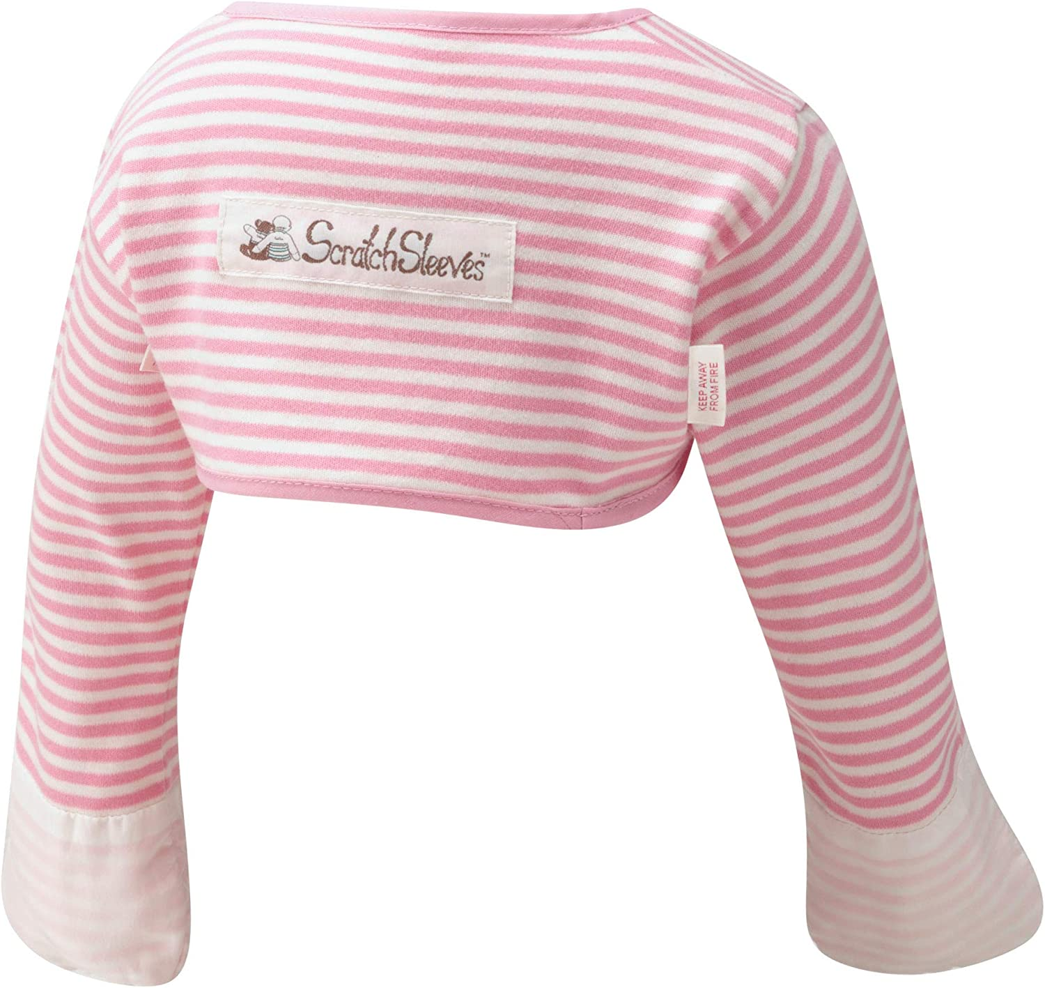 Stay-On Baby Scratch Mitts wingspan 24-26inches 3-6 months ScratchSleeves , Cream And Oatmeal
