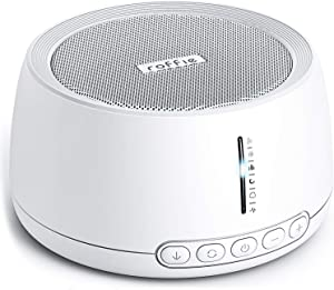 White Noise Machine, Roffie Baby Sleep Sound Machine, 30 Non-Looping Relaxed Sounds, 35 Level of Volume/40~75db, Timer&Memory, Power by USB, Portable Sleep Therapy for Adult, for Nursery/Office/Travel