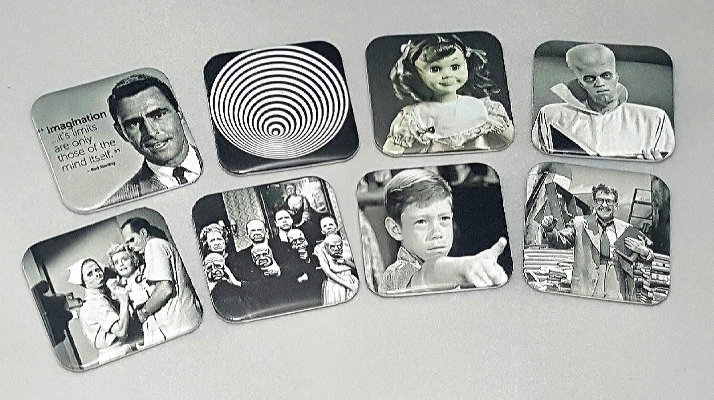 Twilight Zone Complete Series Fridge Magnet Set Retro Television Rod Sterling Science Fiction Decorations Cosplay Bestfriend Birthday Gifts