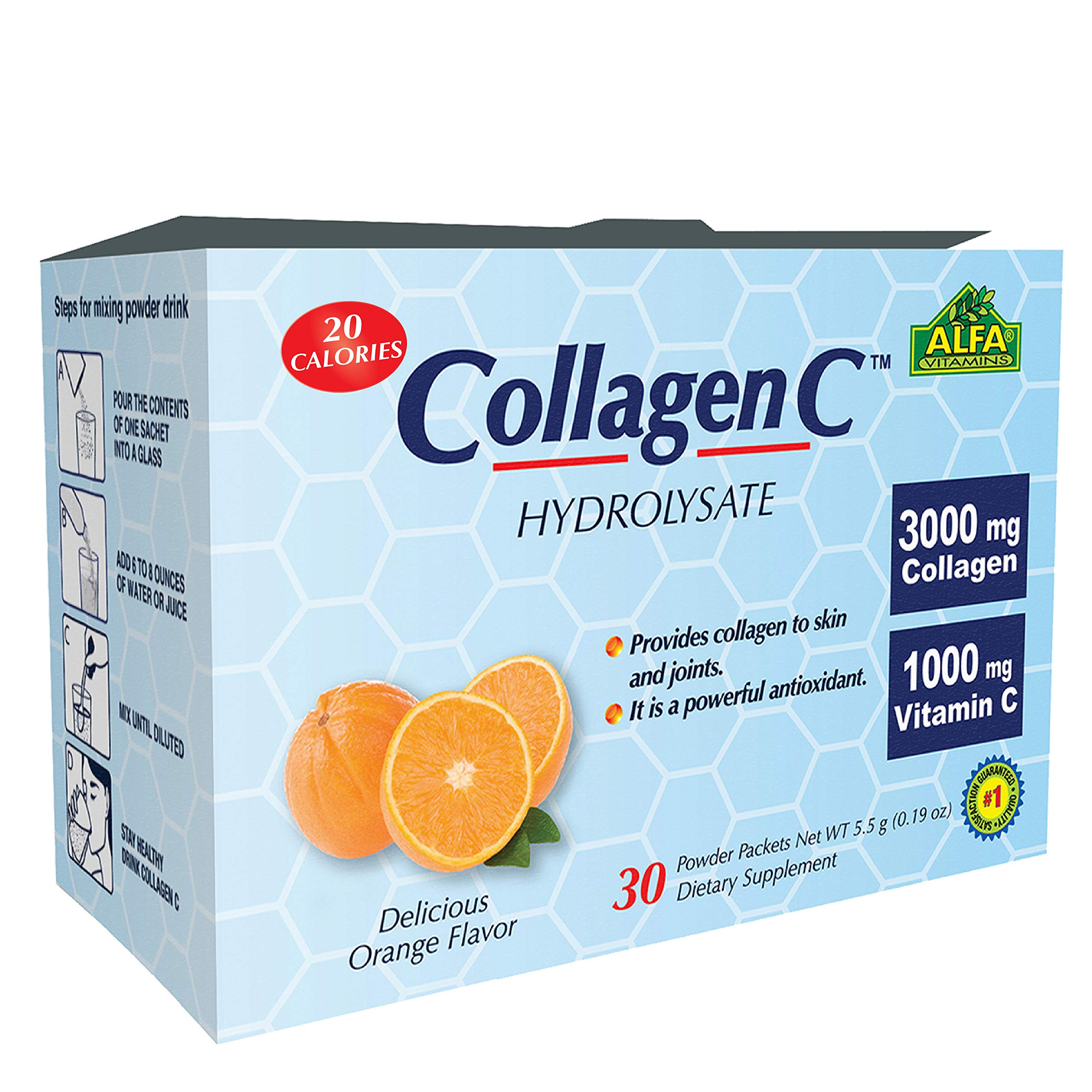 Amazon.com  Collagen Hydrolysate Powder Supplement By ALFA VITAMINS -  Premium Quality Source Of Nutrients a1c2ee1dbbe