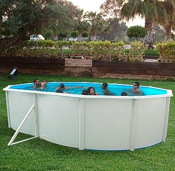 TOI - Piscina MALLORCA OVALADA 550x366x120 cmFiltro 3,6 m³/h: Amazon.es: Juguetes y juegos