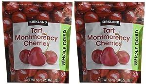 Kirkland Signature Whole Dried Tart Montmorency Cherries: 2 Bags of 20 Oz