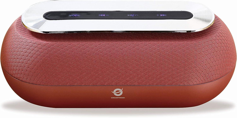 Conceptronic DUNKAN01R 10 W Rojo - Altavoces portátiles (10 W, 60-18000 Hz, 95 dB, 0,5%, Inalámbrico y alámbrico, MicroUSB)