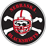 6 Inch Blackshirts Logo University of Nebraska Huskers Football NU Cornhuskers Removable Wall Decal Sticker Art NCAA Home Room Decor 6 by 4 Inches