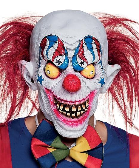 Boland 97532 Maschera Horror Creepy Clown in Lattice con Capelli ... 0e6c4a3fb847