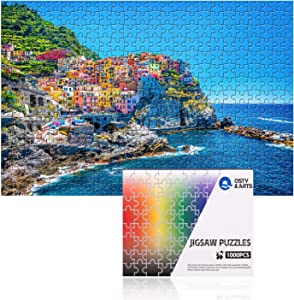 Puzzles for Adults 1000 Pieces Jigsaw Puzzle Toy Kid Large Puzzle Games - Cinque Terre Puzzles,Prime,Artwork for Home Decoration,Office Wall Decoration Painting,Gifts