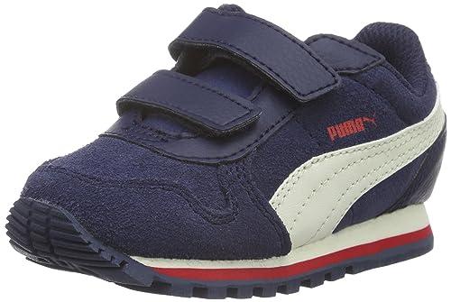 Puma 362079 - Tobillo bajo de Sintético Unisex Infantil, Color Azul, Talla 26 EU