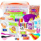 DilaBee - DIY Slime Making Kit - Super Jumbo Starter Set - Safety Tested & Certified! Non-Toxic Slime Accessories & Supplies for Girls and Boys - Instructions Included