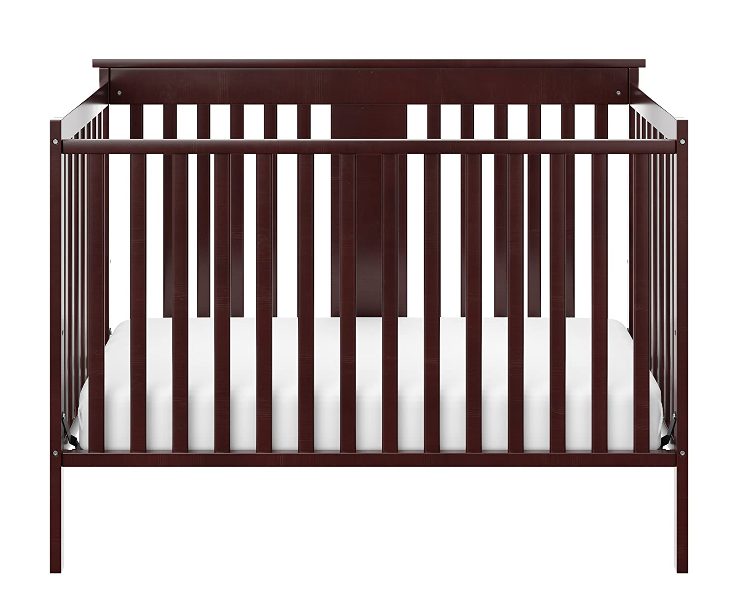 Storkcraft Mission Ridge Fixed Side Convertible Crib, Espresso, Fixed Side Crib, Solid Pine and Wood Product Construction, Converts to Toddler Bed Day Bed or Full Bed, Mattress Not Included