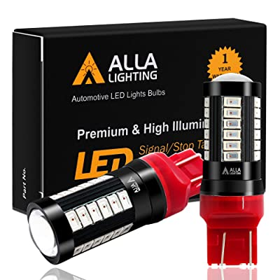 Alla Lighting 2800lm 7440 7443 LED Bulbs Red Xtreme Super Bright 5730 33-SMD Cars Trucks' Turn Signal, Brake Stop Lights, TailLights T20 7441 7442 7444NAK: Automotive