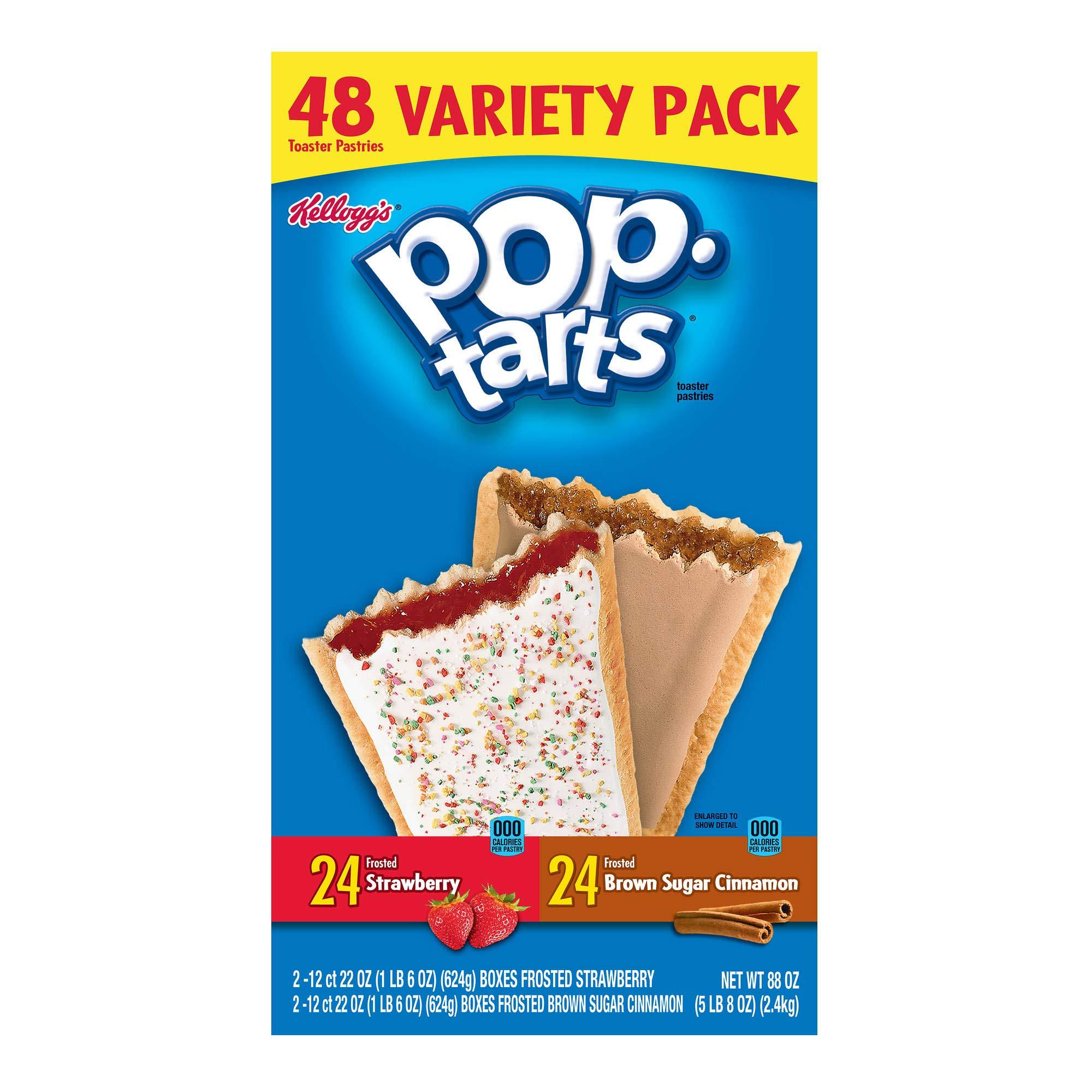 Kellogg's Pop Tarts Strawberry and Brown Sugar Variety Pack, 48 ct. by Kellogg's (Image #1)