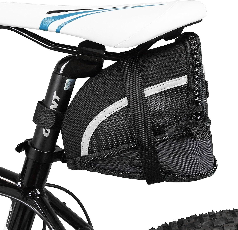 BV Bike Seat Saddle Bag Bicycle Rear Tail Strap-On Pouch Large NEW SB1-L