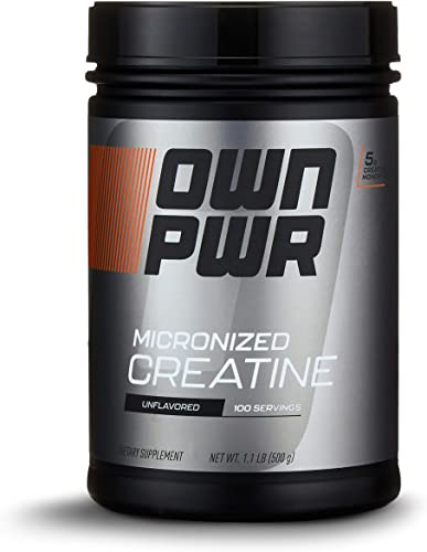 OWN PWR Micronized Creatine Monohydrate Powder, 5G per Serving, Unflavored, 1.1 Pound 100 servings