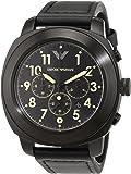 Armani Herren-Armbanduhr Chronograph Quarz Leder AR6061