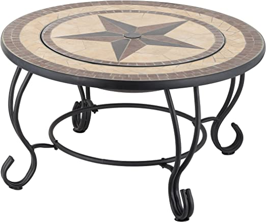 Mari Garden Vigo - Mesa baja de jardín, redonda y con diseño de ...