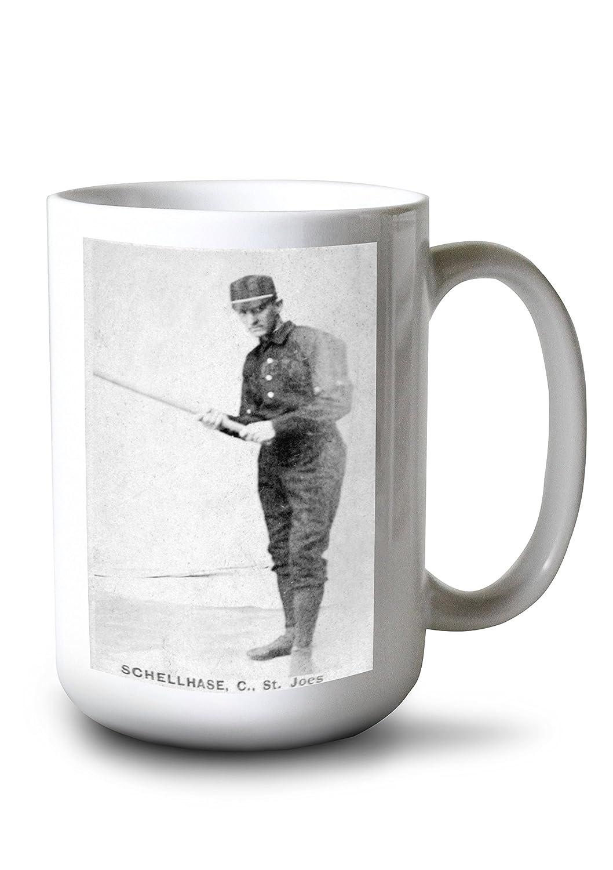 マイナーリーグ – セントジョセフSchellhase – 野球カード 15oz Mug LANT-3P-15OZ-WHT-23599 B077RYW1TV  15oz Mug