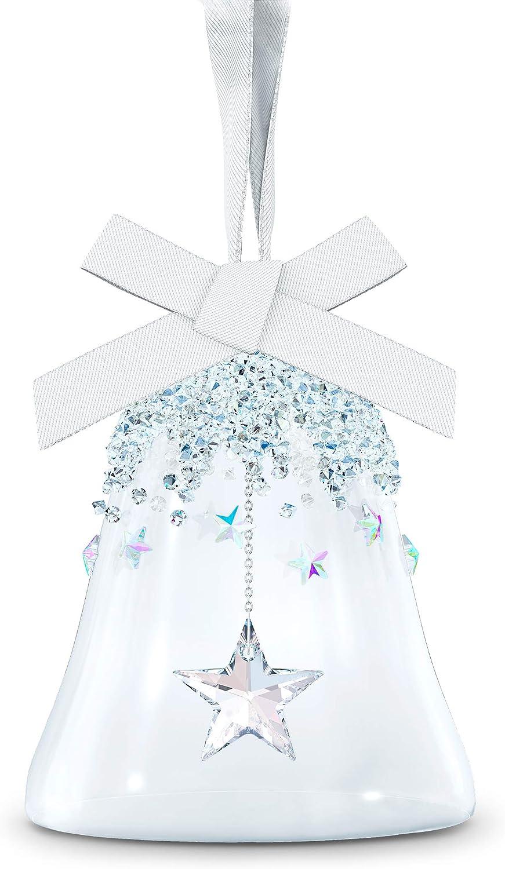 Swarovski Ornament Bell Star Small Clear Crystal Ribbon Home Kitchen