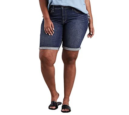 42739bfb26 Levi's Women's Plus-Size Shaping Bermuda Shorts, Lost Blues, 38 (US ...