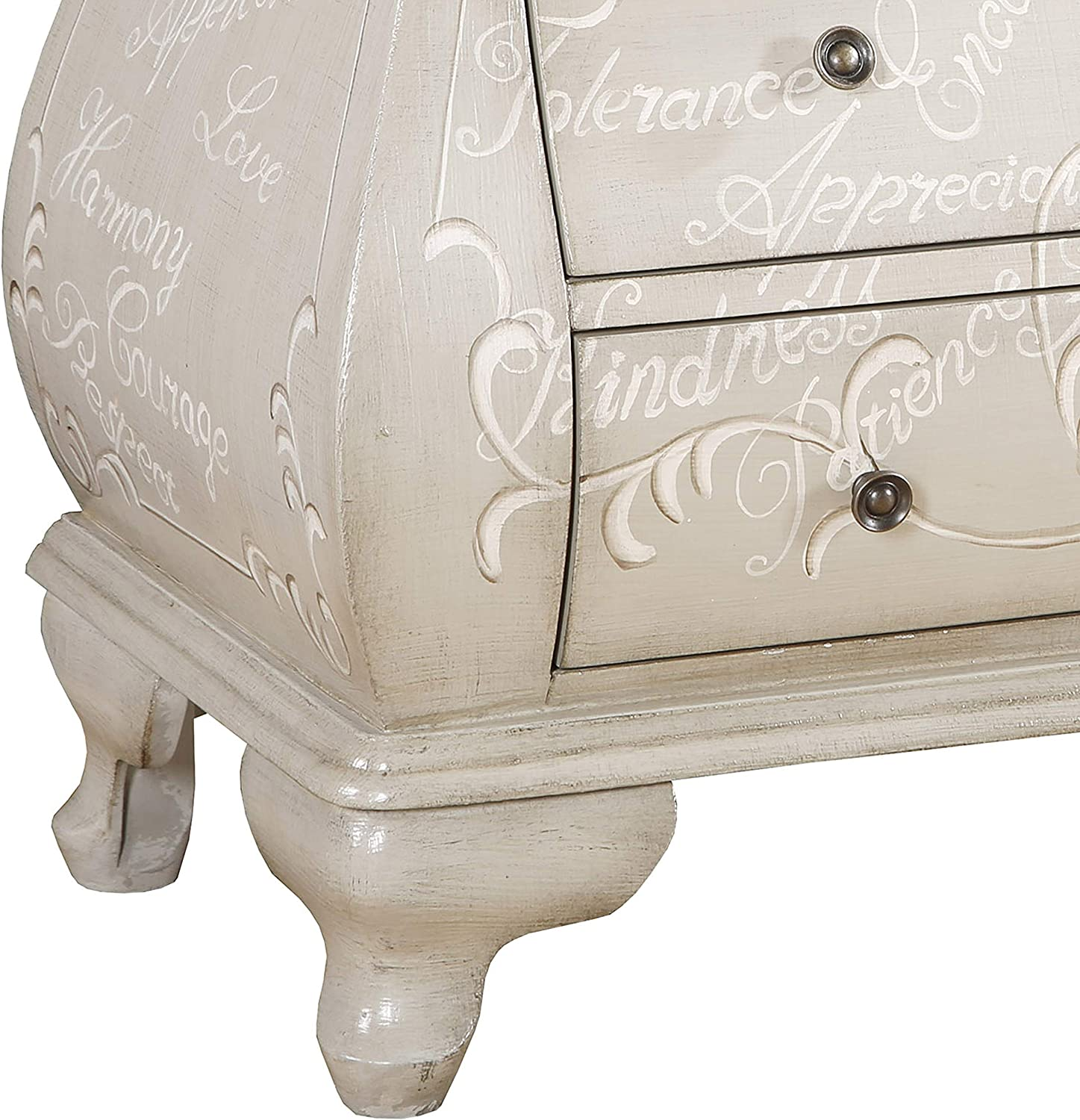 Pulaski DS-D204-022 Grey Scripted Bombe Chest Accents,