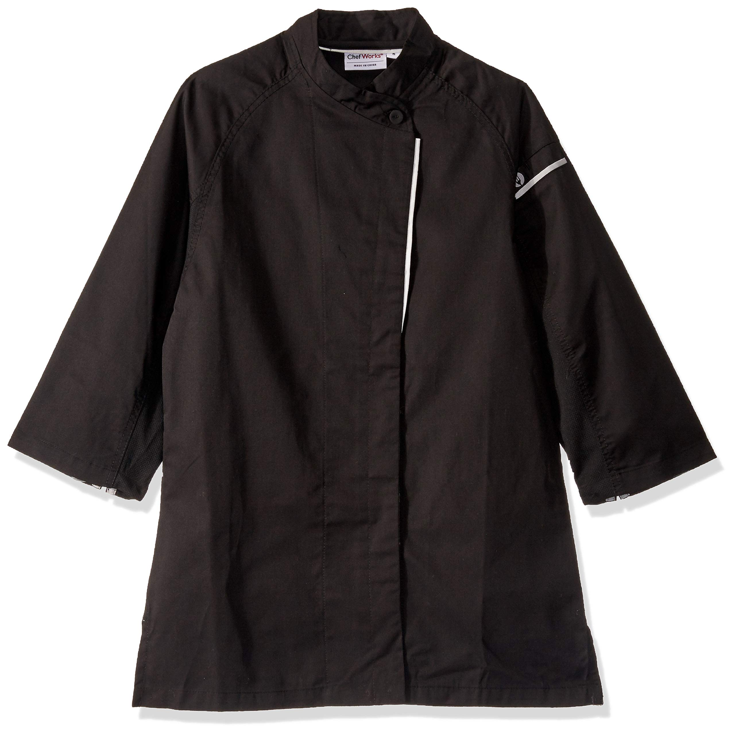 Chef Works Women's Verona V-Series Chef Coat, Black, Large by Chef Works