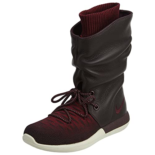 reputable site 30530 f1ed3 Nike Women s WMNS Roshe Two HI Flyknit, DEEP Burgundy DEEP Burgundy-Team RED