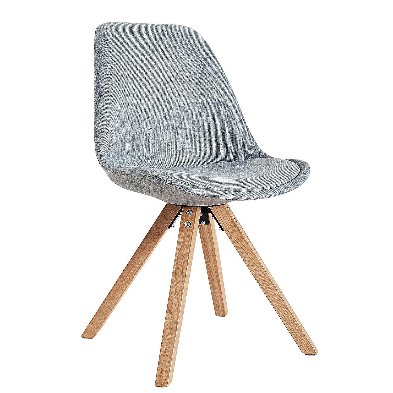 Designbotschaft: Davos Stuhl Grau/ Eiche - Esszimmerstühle 1 Stck ...
