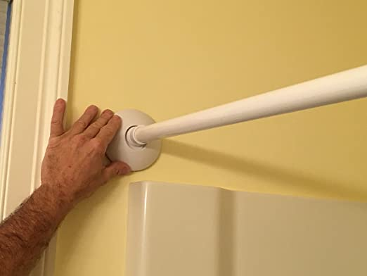 Amazon Safety Innovations Stay Put Shower Curtain Rod Mount 2 Pack Home Kitchen