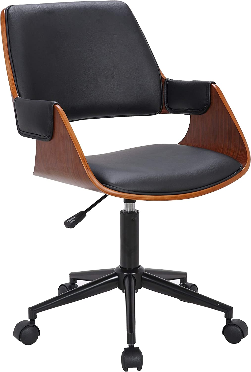 Porthos Home Office Chair, Deluxe Bentwood Style Comfy, Office Chairs Black