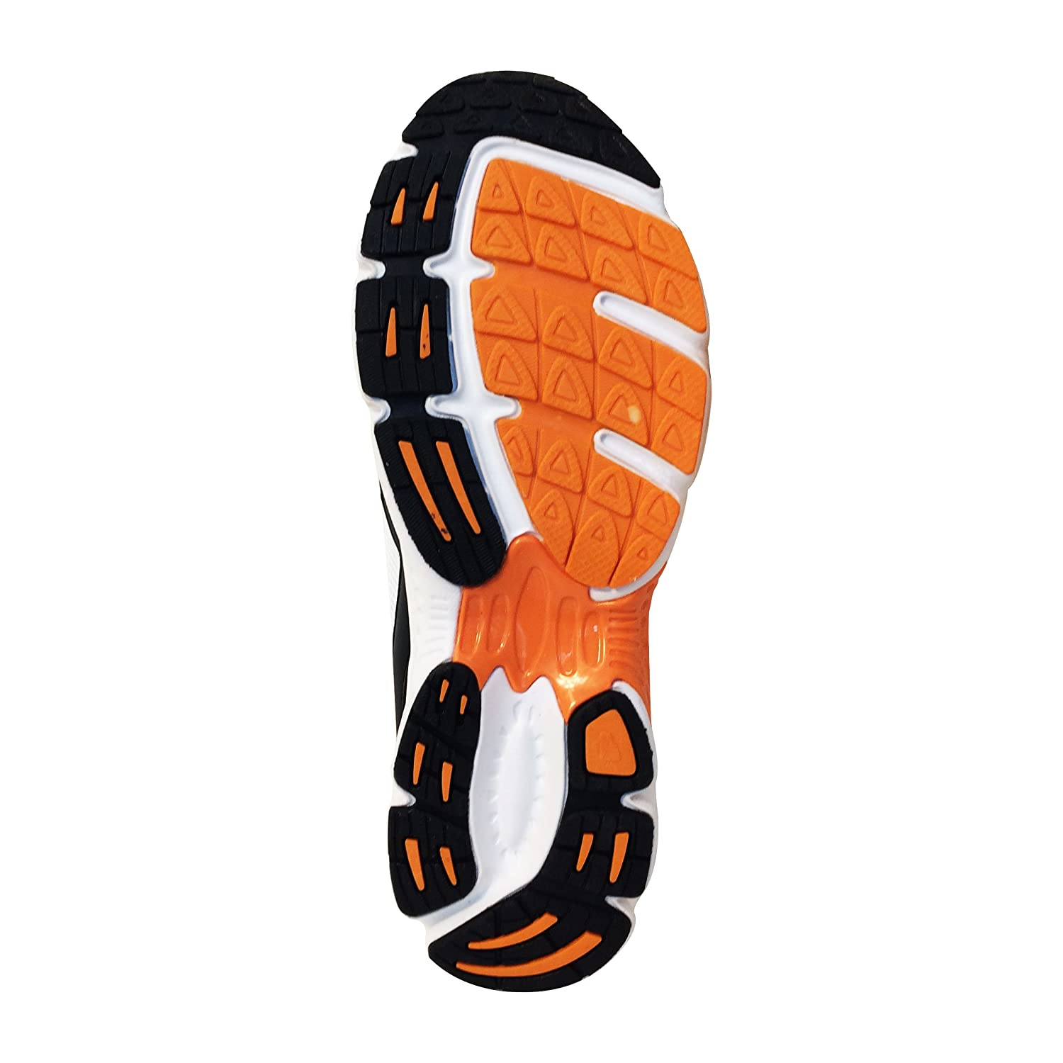 Squash Racqetball Shoes for Sports Played On Wooden Floor US 11 - UK 10 - Euro 45, Orange - Black - White