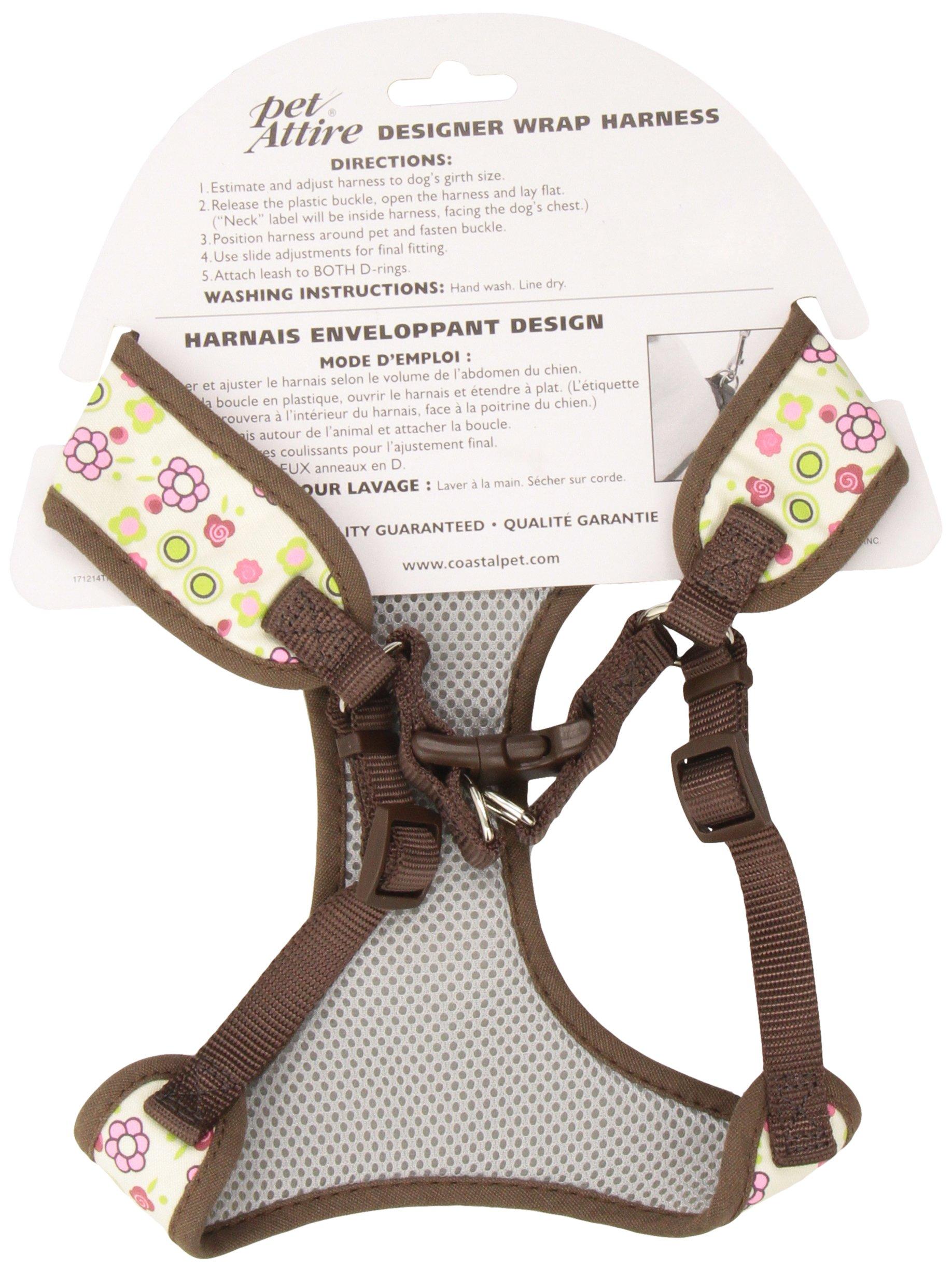 Pet Attire Adjustable Designer Wrap Harness, 5/8''