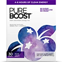 Pureboost Clean Energy Drink Mix + Immune System Support. Sugar-Free Energy with...