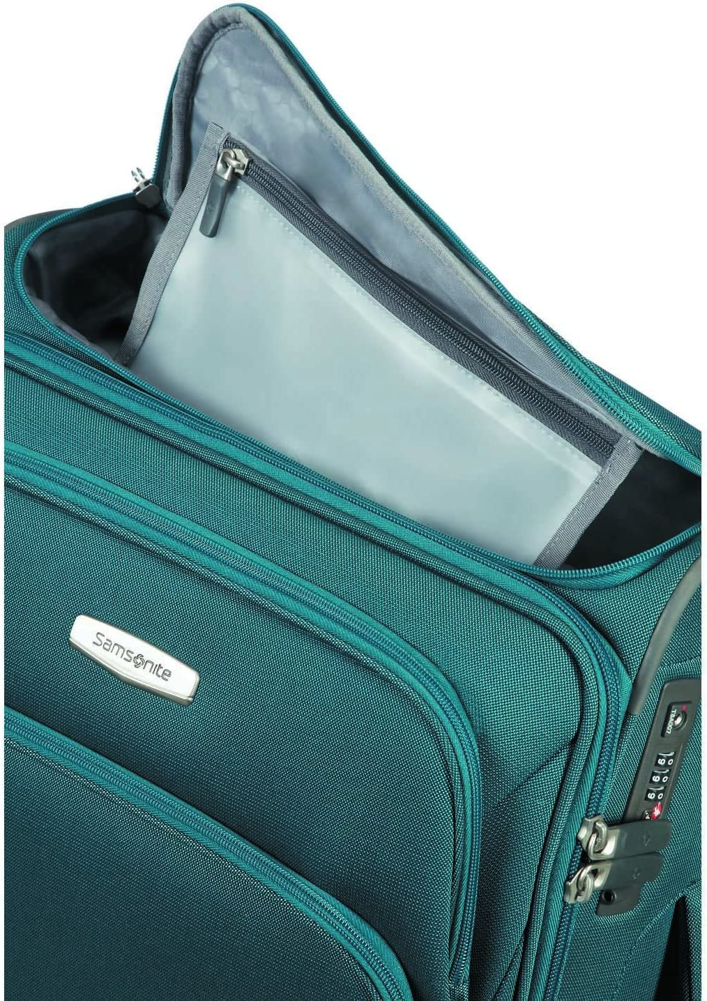 Spinner 55//20 with SmartTop Hand Luggage 55 cm 43 liters Blue SAMSONITE Spark SNG Petrol Blue