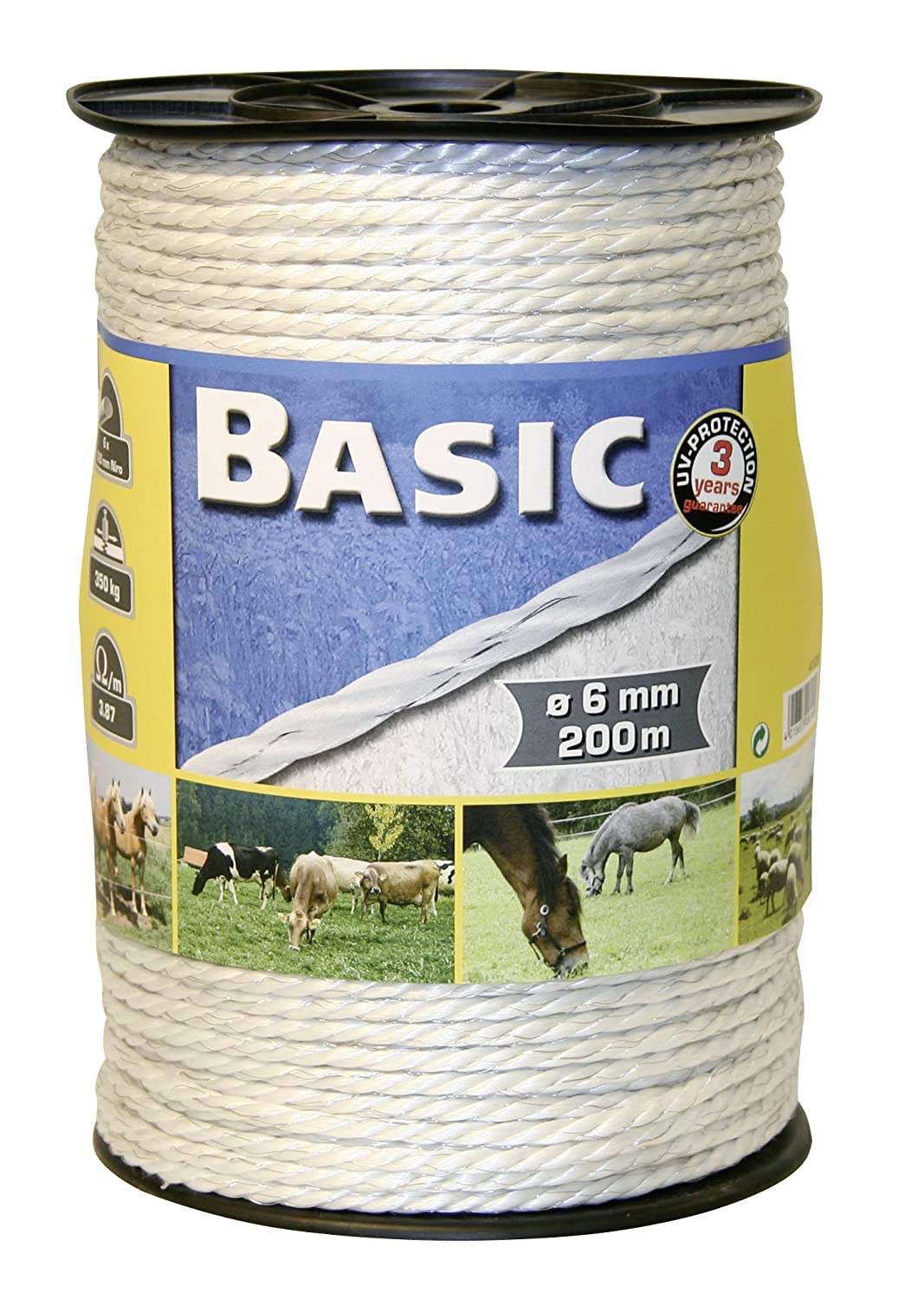 BASIC FENCING ROPE C W S STEEL WIRES 200M - - CRL0545