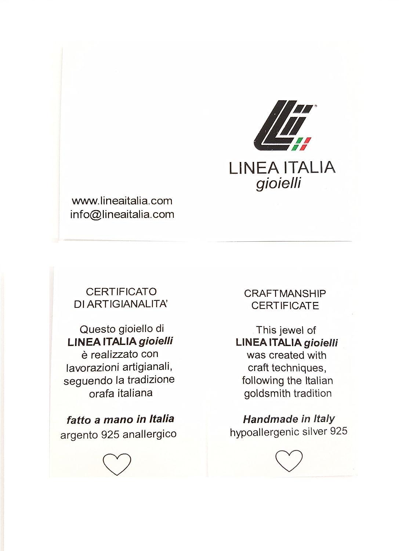 Made In Italy Orecchini Donna Rosario In Argento 925 Con CROCE E Perline Nere
