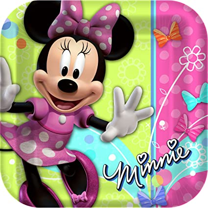 Amazon.com: Minnie Mouse – Platos para fiesta Minnie ...