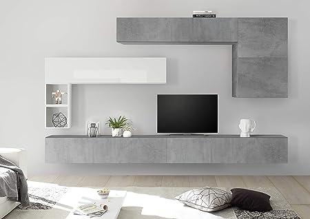 Amazon.it: Bianco Pareti attrezzate Soggiorno: Casa e cucina