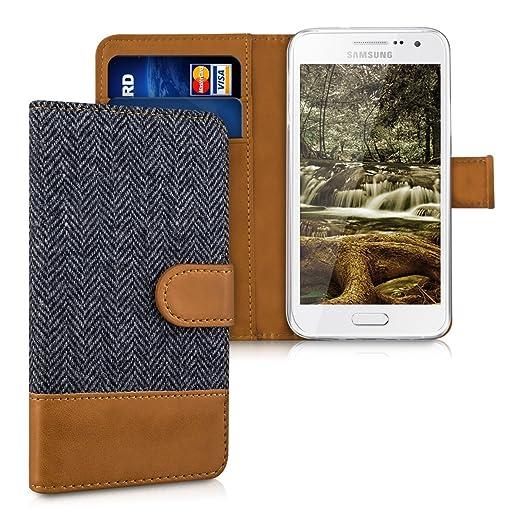 24 opinioni per kwmobile Custodia portafoglio per Samsung Galaxy A3 (2015)- Cover in simil pelle
