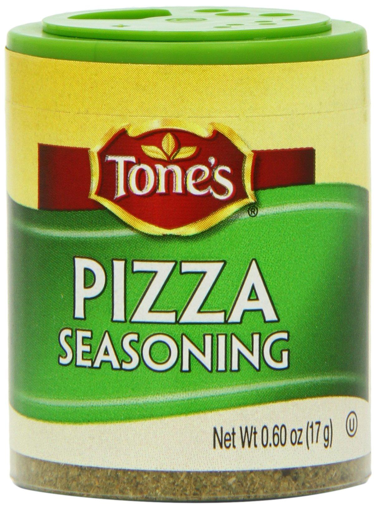 Tone's Mini's Pizza Seasoning, 0.60 Ounce (Pack of 6)