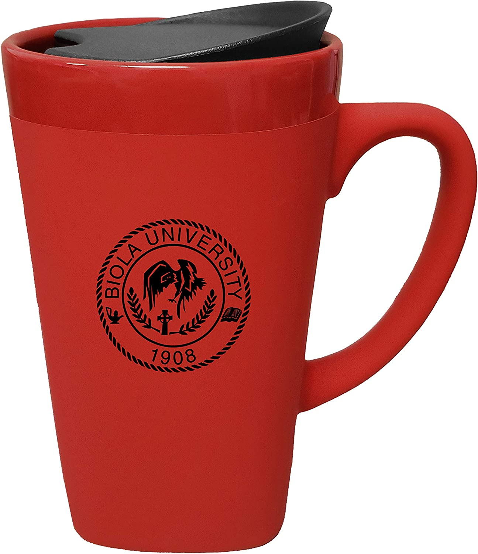 Red The Fanatic Group Biola University Ceramic Mug with Swivel Lid Design-1