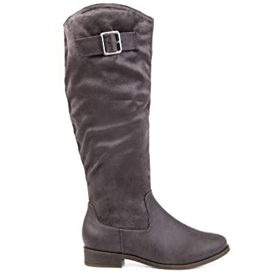 66ac8989e668 Image Unavailable. Image not available for. Color  Brinley Co Comfort  Womens Two-Tone Riding Boot Grey
