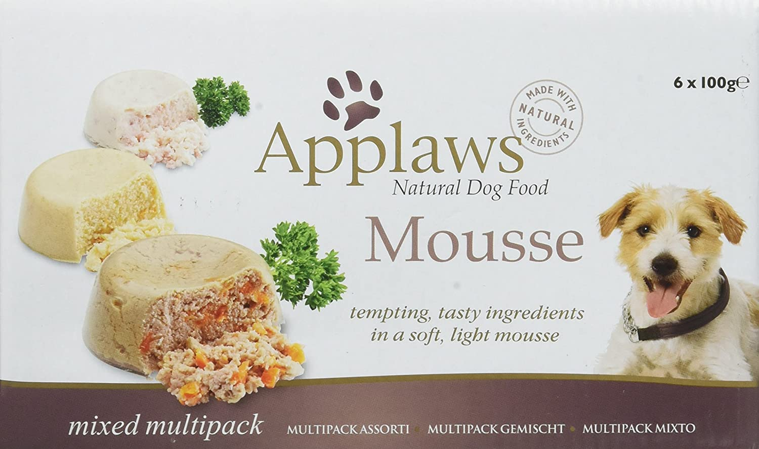 Applaws Dog Mousse, Multipack, 100 g, Pack of 4, 24-Count