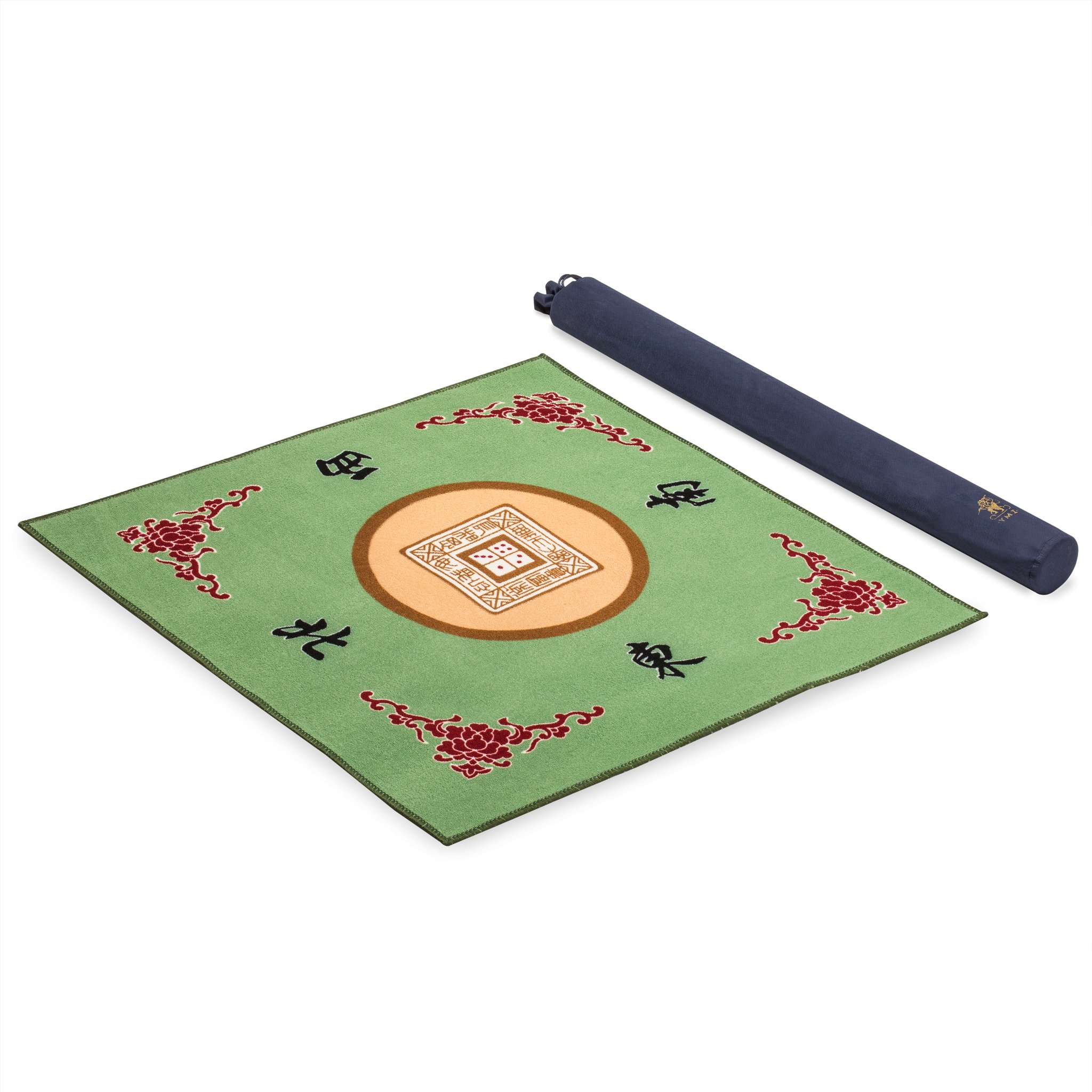 Yellow Mountain Imports Table Cover for Poker, Card Games, Board Games, Tile Games, Dominoes, and Mahjong (Mah Jong, Mahjongg, Mah-Jongg, Mah Jongg, Majiang), 30.8 x 30.8 Inches, Green
