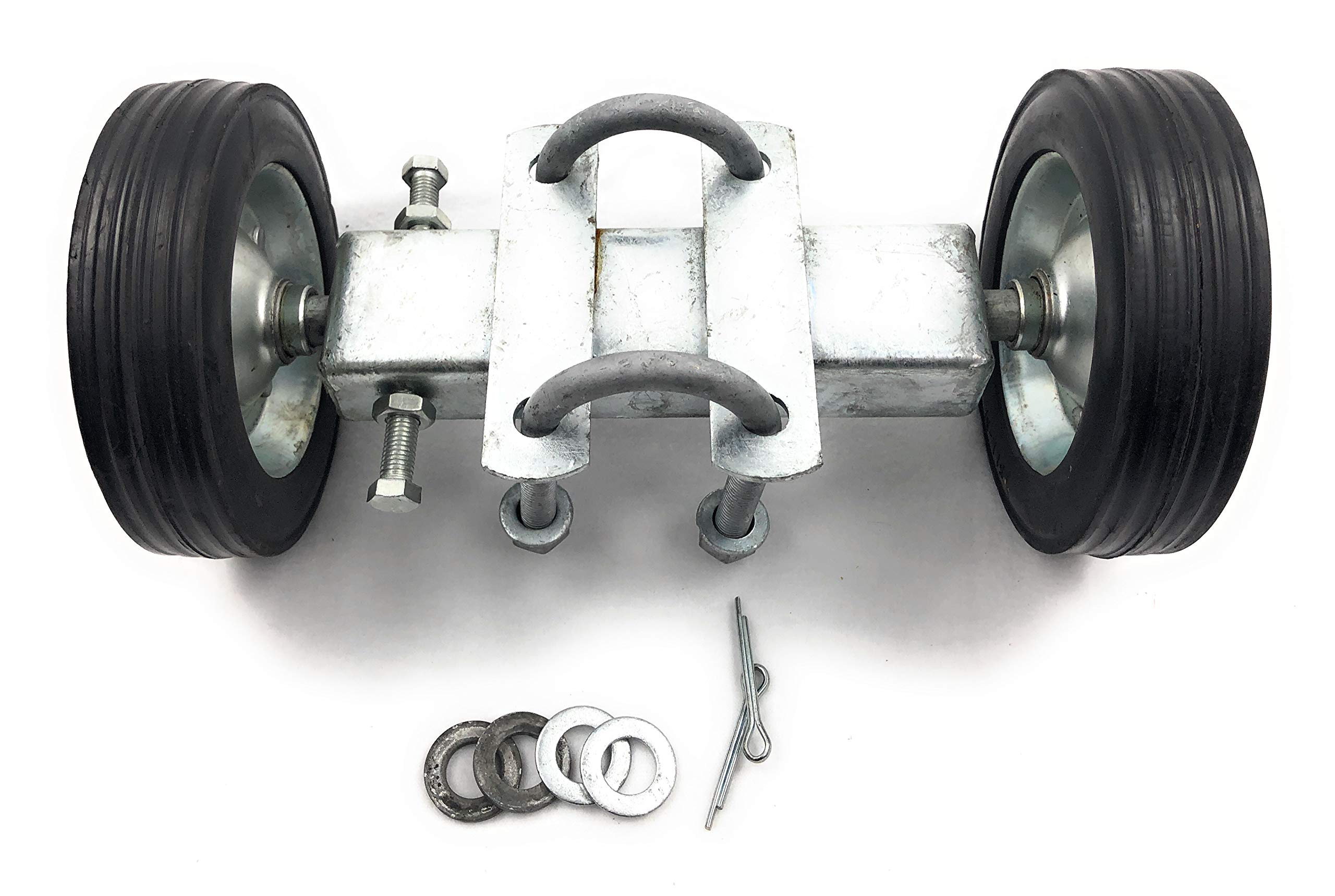 6'' ROLLING GATE CARRIER WHEELS: for chain link fence rolling gates - rut runner by FenceSmart4U