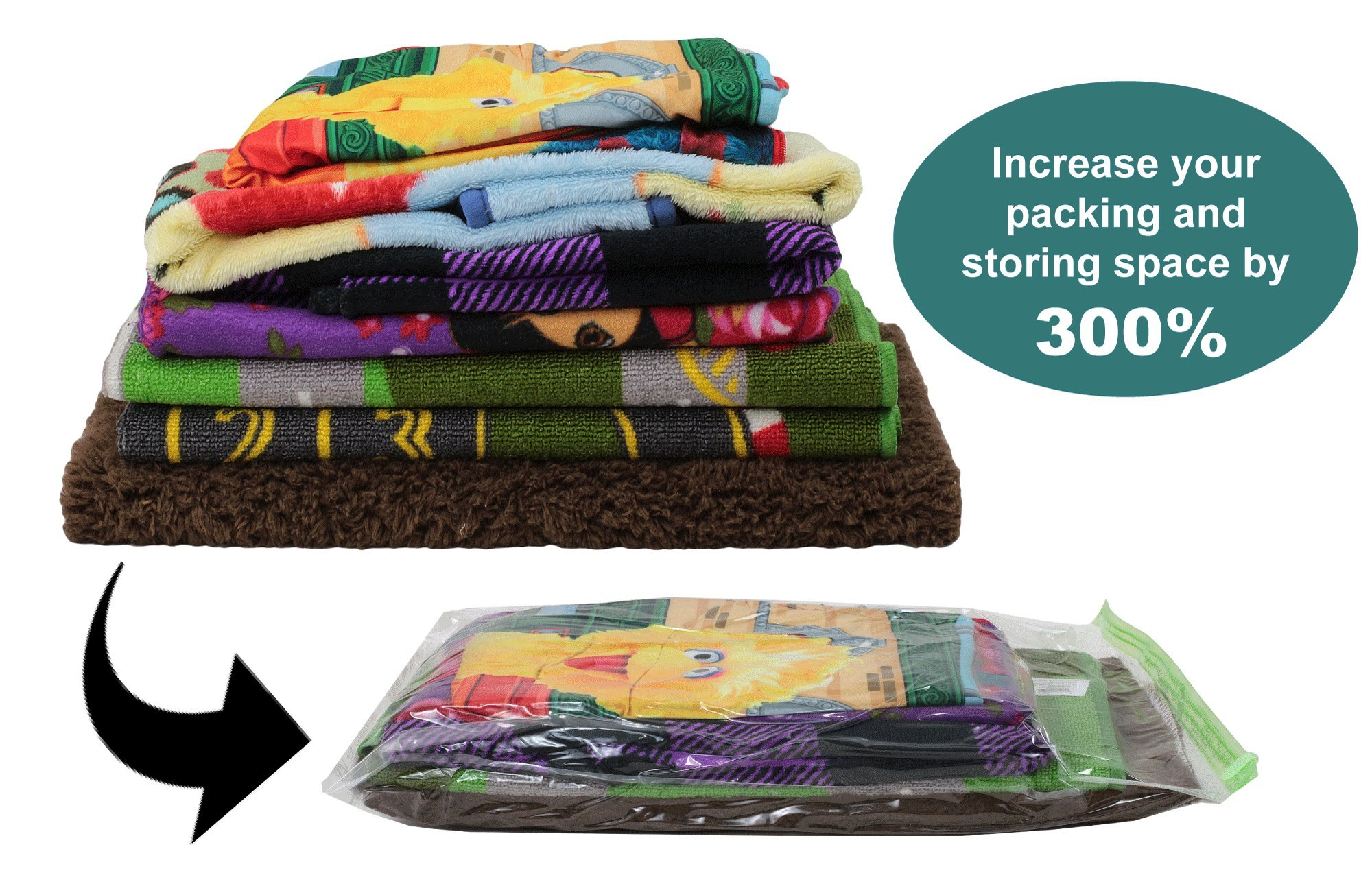 Acrodo Space Saver Packing Bags for Travel - 10-pack Rolling Compression Bags for Clothing by Acrodo (Image #2)