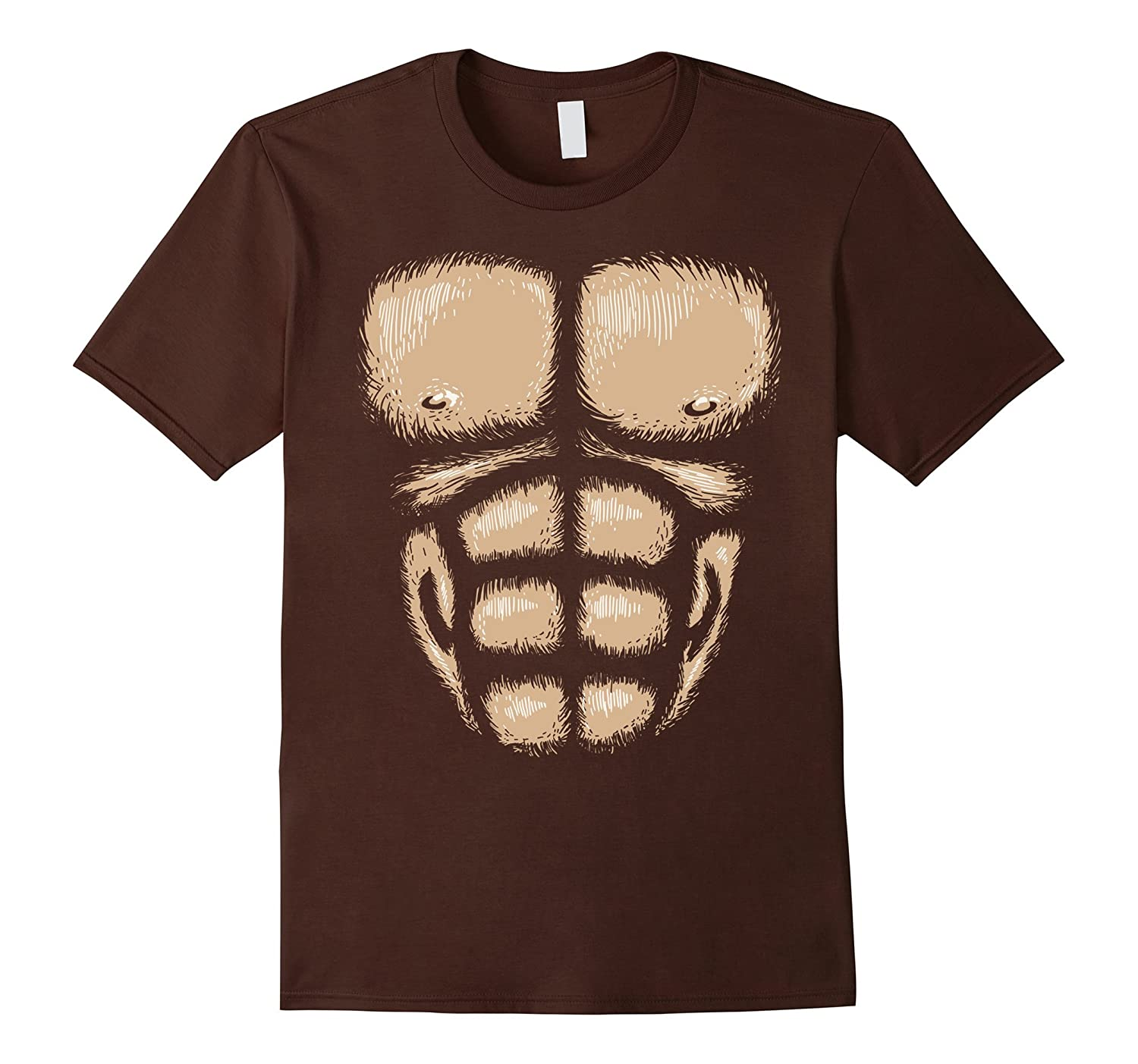 Monkey Chest Muscles Shirt Halloween Costume Gorilla Suit