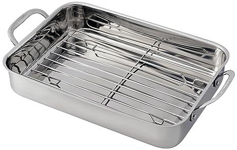 Cuisinart Dish Rack Stunning Amazon Cuisinart 6060RR Lasagna Pan With Stainless Roasting