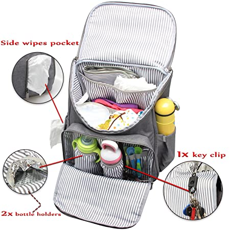 ... Weekender Carry Bag with Stroller Straps, Changing Pad, Insulated Bottle Holder, Multipurpose, Wide Open, High Capacity, Ideal for Mom and Dad : Baby