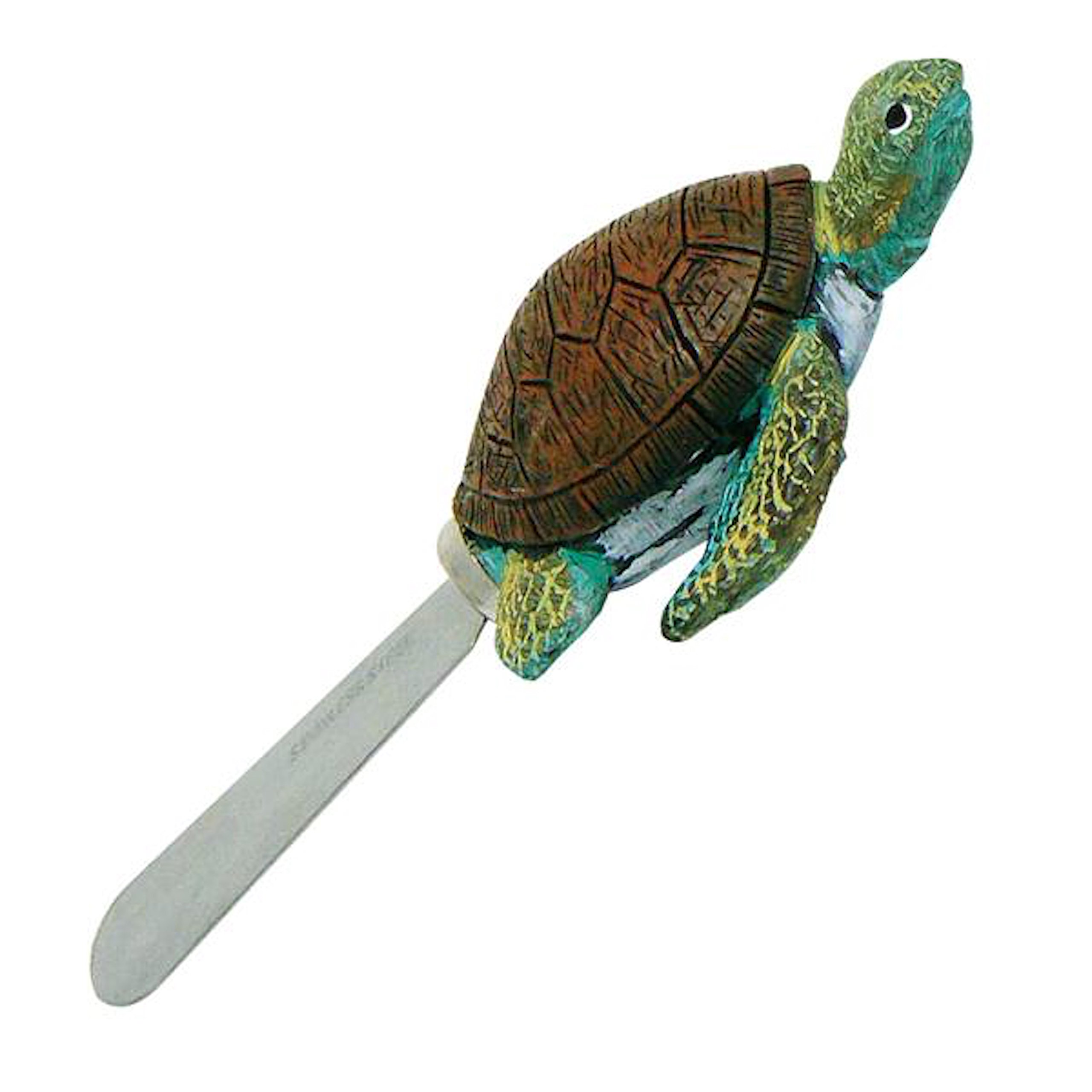 Set Of 4 Sea Turtle Butter Spreader Knives