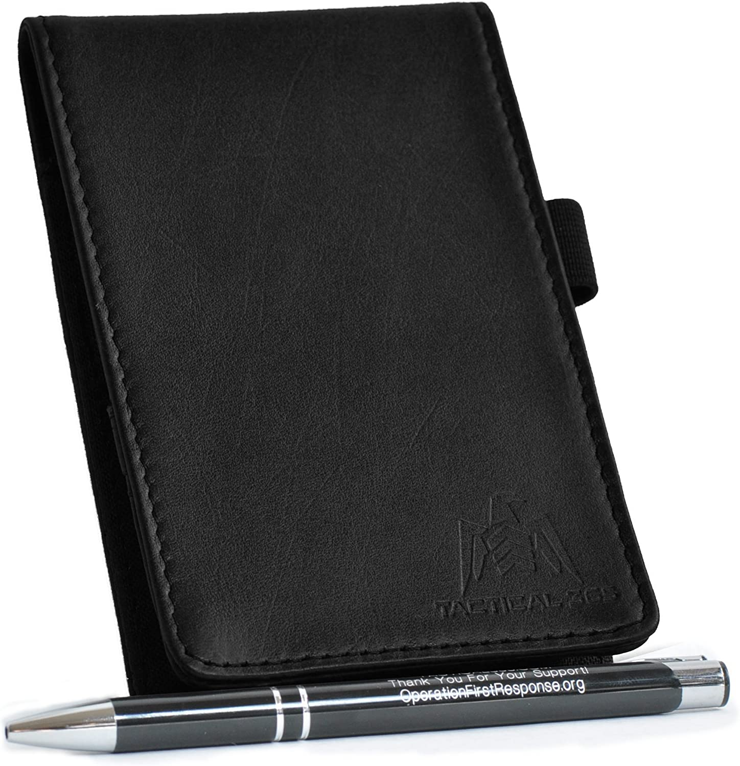 Tactical 365 Operation First Response Deluxe Leather Memo Pad Holder - Black