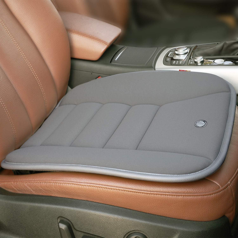Domic Auto Sitzkissen Auflage Für Auto Fahrersitz Bürostuhl Home Use Memory Foam Sitzkissen Freie Größe Grau Küche Haushalt